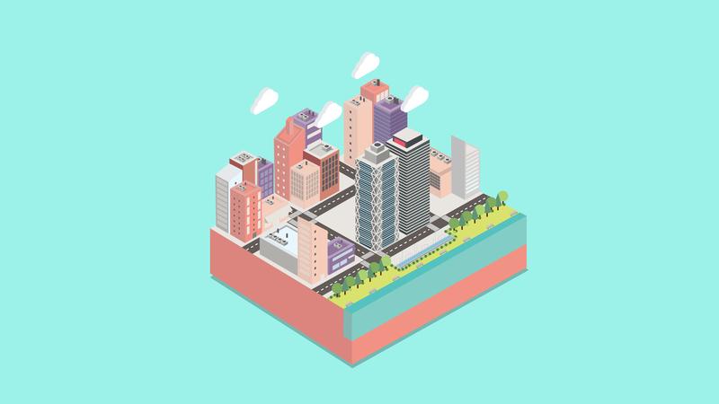 Barcelona flat  design info graphic info design city animation cinema 4d 3d illustration colours design