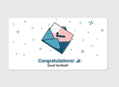Email Verification flat design