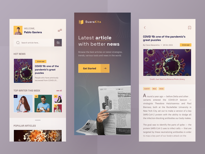 News and Article Apps book read save covid writer news document article search dark mobile ios app design ui clean ux