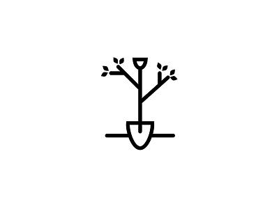 Tree Planting Logo - WIP horticulture garden arborists shovel tree mark icon identity logo wip