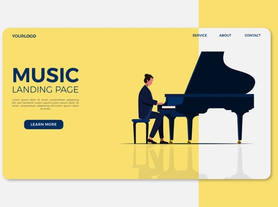 music page template