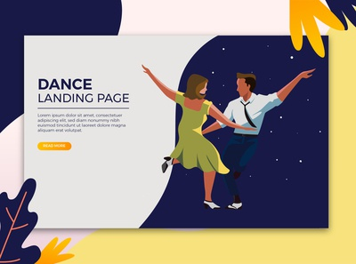 dance page template