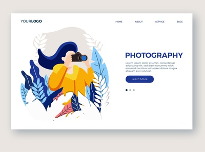 Photography page template
