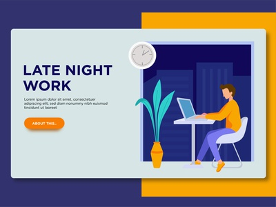 Late night work page template