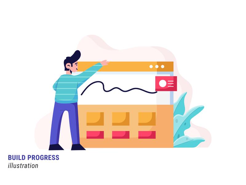 Build Progress webdesign ui illustrator illustration flat illustration design vector progress build