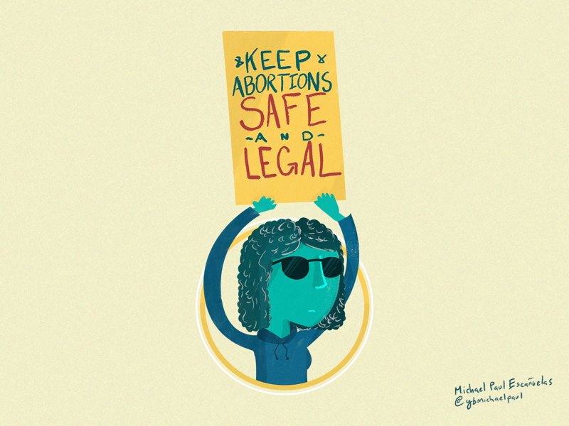 KEEP ABORTIONS SAFE AND LEGAL illustration