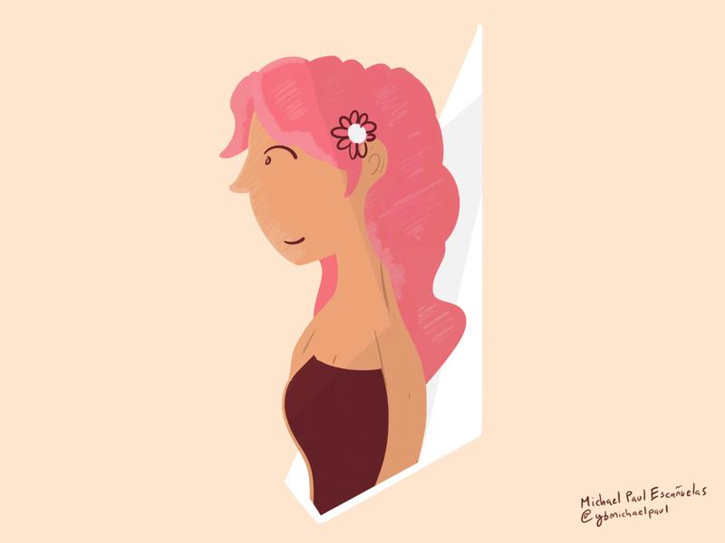 She design flat minimal process procreate ipadpro illustraion