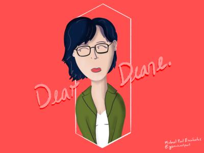 Dear Diane. netflix ipad digital art procreate illustration diane bojack horseman