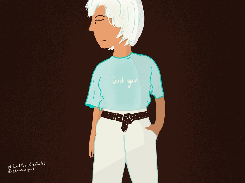 just you and only you character design fashion simple illustration flat procreate illustration