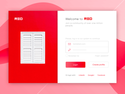 RED login page.