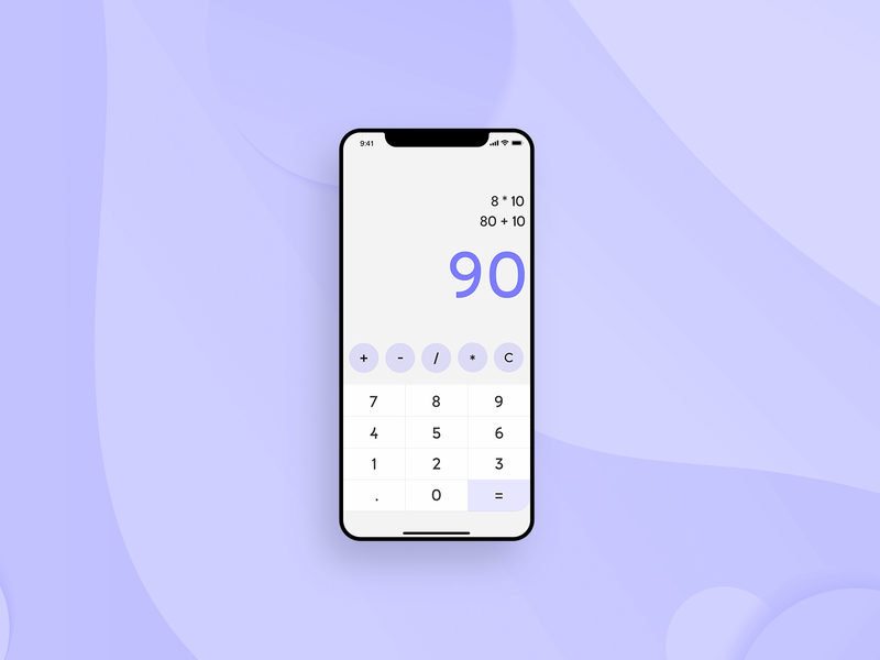 Calculator iphone x illustration web page vector app ux web calculator ui calculator 004 daily 100 branding web  design ui elements ui dailyui challenge brand minimal design