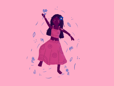 María dribbble argentina nature design creative art girlcharacter music dance music dance photoshop digitalart illustration art illustration