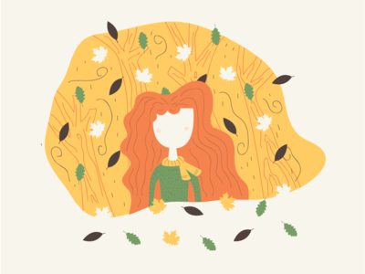 Girl and autumn