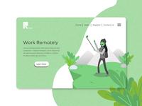 Remote Work Landing Page
