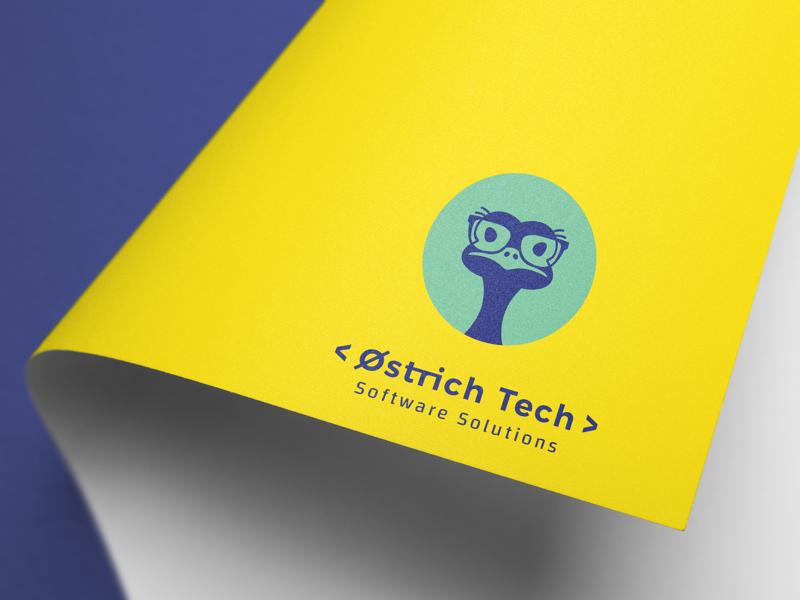 Ostrich Tech Brand Identity technology graphic design logo branding brand identity