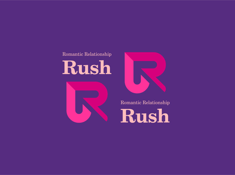 Rush icon design illustration typography logo