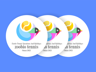 Exotic Tennis Vacations And Holidays icon design illustration typography logo