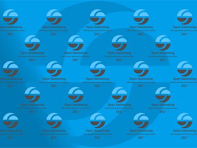 FINA Olympic Marathon Swim Qualifier icon design illustration typography logo