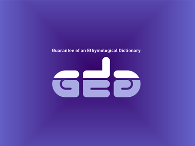 Guarantee of an Ethymological Dictionary icon design illustration typography logo