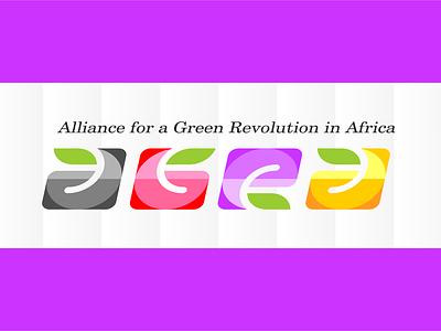 Alliancefor a Green Revolution in Africa icon design illustration typography logo