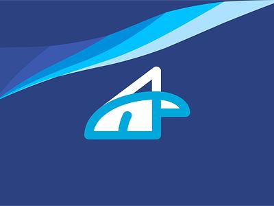 Arctic  Pure fresh wind of chage icon design illustration typography logo