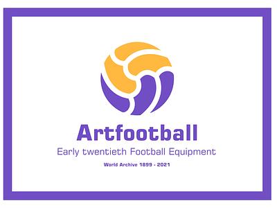 Early twentieth football equipment логотип icon illustration design typography logo