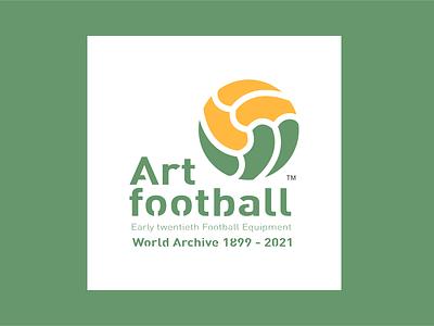 Early twentieth football equipment icon illustration design typography logo