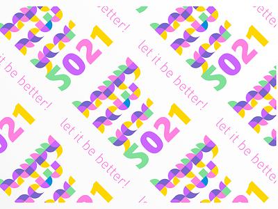 Let it be better icon illustration design typography logo