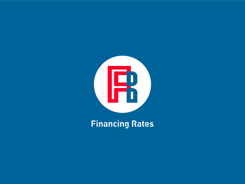 Financing Rates logo типография illustration