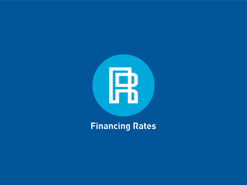 Financing Rates logo illustration типография