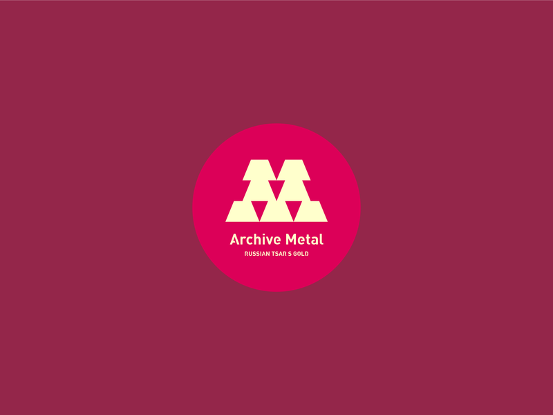 Archive Metal logo typography illustration