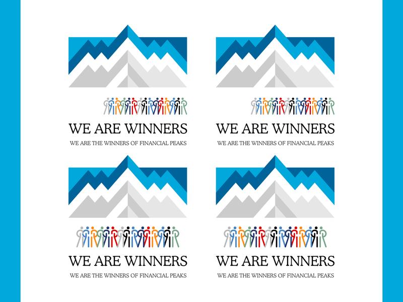 We Are Winners logo typography illustration