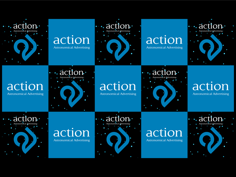 Astronomical Advertising typography illustration logo