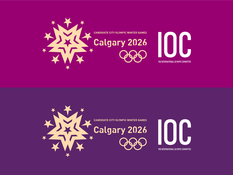 Calgary 2026 Candidate City Olympic Games icon illustration design typography logo