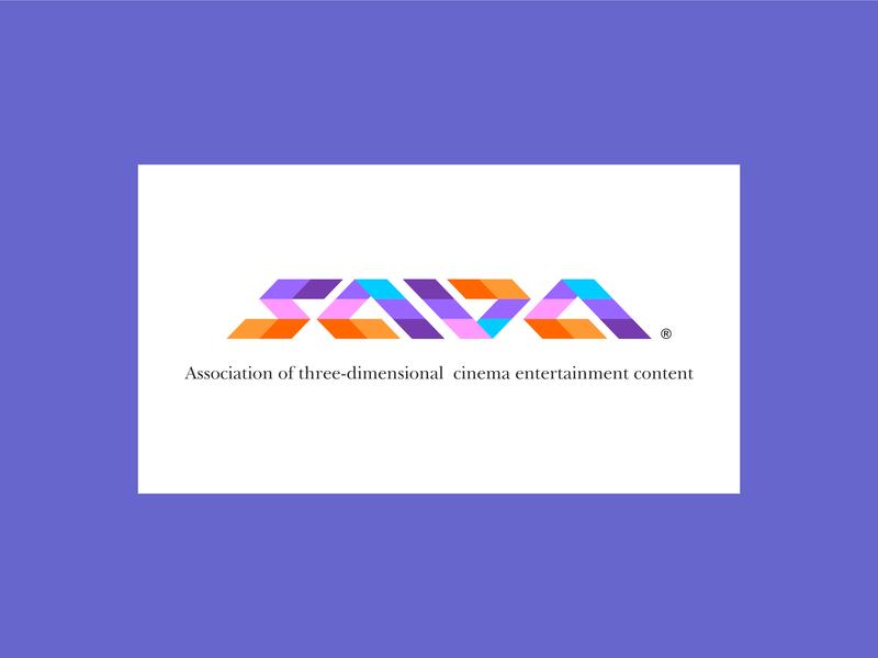 Association Of Three Dimensional Cinema Entertainment  Content icon design illustration typography logo