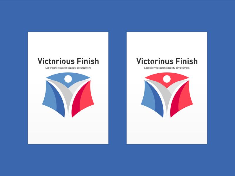 Victorious Finish icon design illustration typography logo