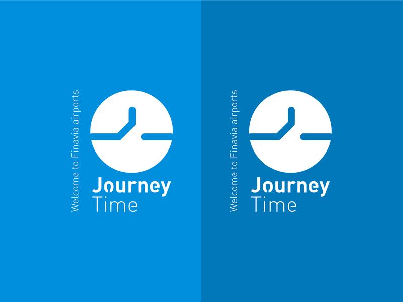 Journey Time icon design illustration typography logo