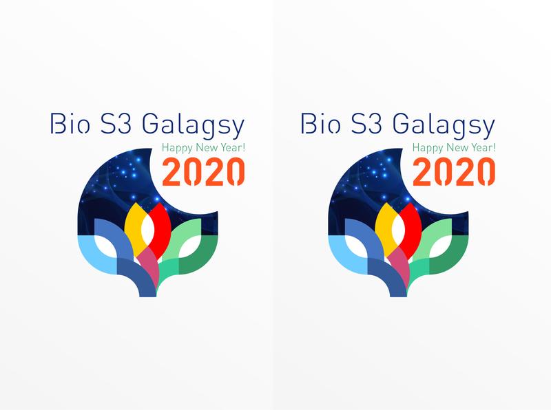 Bio S3 Galagsy 2020 icon design illustration typography logo