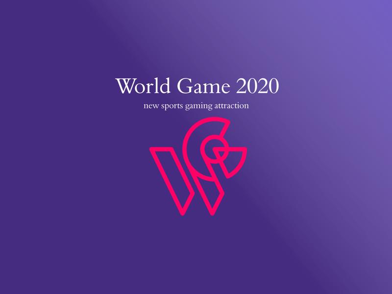 world game 2020 icon design illustration typography logo