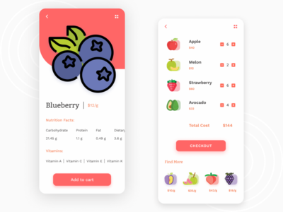 Fruits App UI delivery shop fruits 2020 appdesign ux app ui design