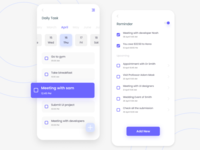Daily task management app schedule task app mobile ui appdesign ux app 2020 ui design
