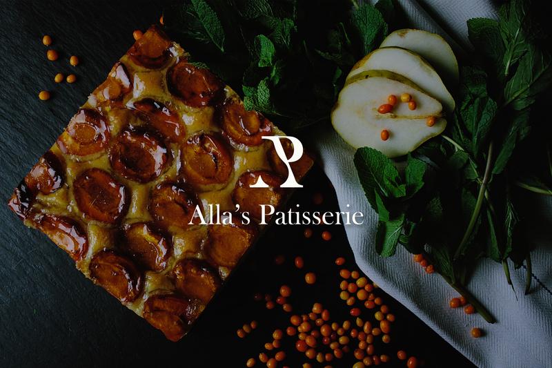 Alla's Patisserie logo! vector fruit logo bakery logo dessert logo dessert l logo logo alphabet a logo logo a day logotype graphicdesign pidea branding pear logo logo ap logo