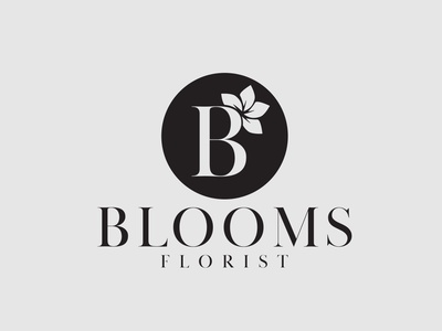 Blooms Florist — Logo Design logodesigner branding logodesign logo