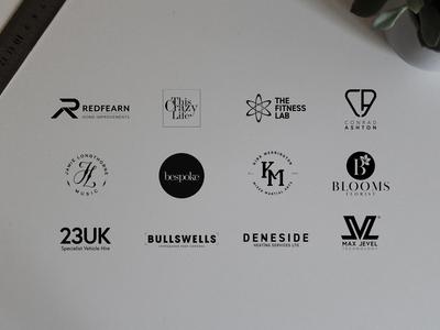 Handful of logos