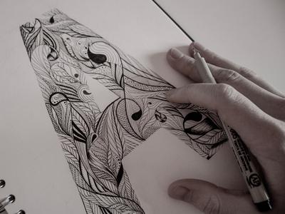 'A' Illustration