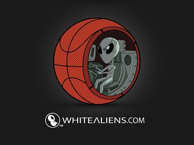 What's Inside a Basketball? 👽 illustration illustrator design clothing design clothing brand alien basketball