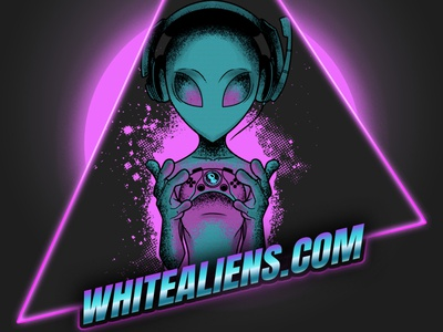 Gamer Alien Retro Design retro design game retro alien video game