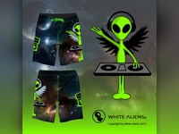 White Aliens Festival Shorts