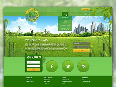 Gaia user interface design. ui design website green bamboo ui design