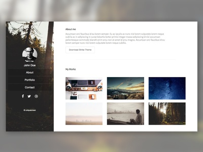 Strike - Free Portfolio Theme - One Page Responsive Theme. responsive html theme portfolio